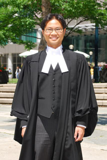 Picture of David Lam, Barrister and Solicitor in court robes
